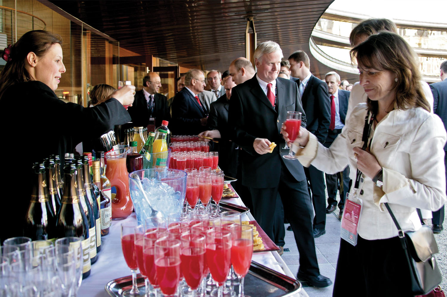 Event Marketing - no detail was too small. Red champagne cocktails were poured from 50th Anniversary branded bottles