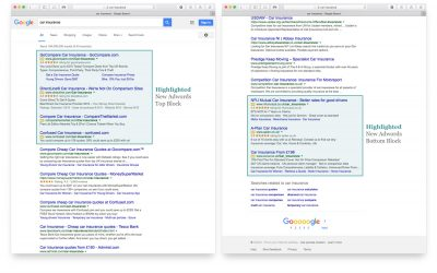 AdWords and Google's organic results blur further