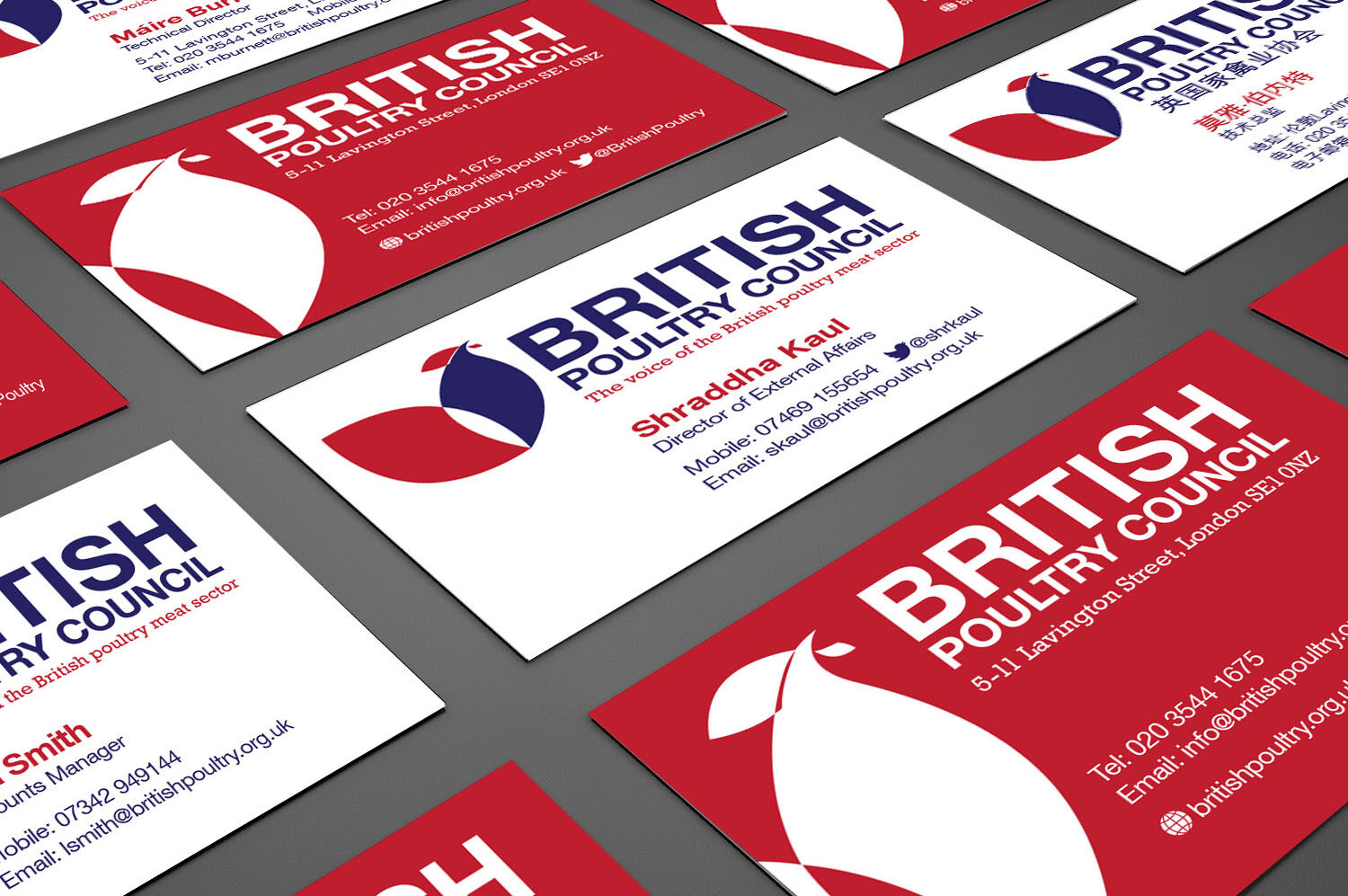 British Poultry business cards